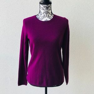 😍 NWT Lord&taylor 💯 cashmere burgundy sweater M
